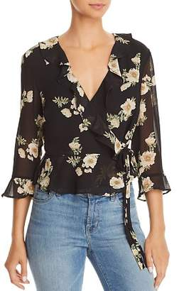 Bardot Catalina Floral Print Wrap Top