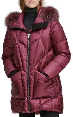 Andrew Marc McKenna Lightweight Down-Filled Parka w/ Detachable Fur