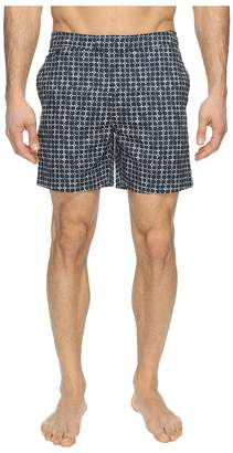 Original Penguin Floral Grid Fixed Volley Men's Swimwear
