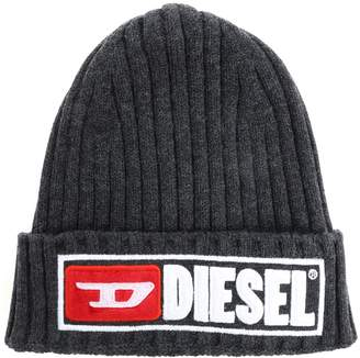 Diesel Embroidered Logo Beanie