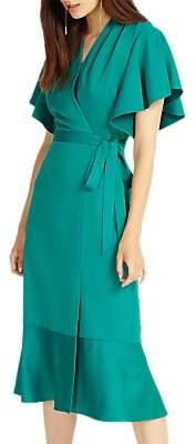 Phase Eight Carlie Frill Dress, Jade