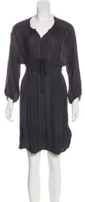 Isabel Marant Raw-Edge-Trimmed Long Sleeve Dress Grey Raw-Edge-Trimmed Long Sleeve Dress