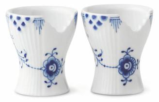 Royal Copenhagen Set of 2 Elements Egg Cups - Blue/White