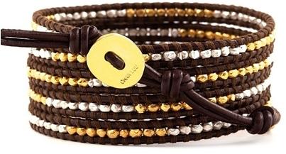 Chan Luu Gold Vermeil / Sterling Silver Wrap Bracelet