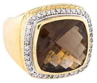 David Yurman 18K Smoky Quartz & Diamond Albion Ring