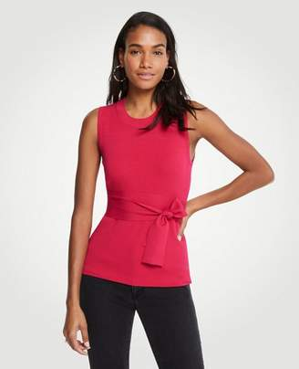 Ann Taylor Tie Waist Sleeveless Sweater