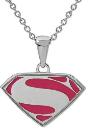 Marvel DC Comics Stainless Steel Superman Logo Pendant with Chain