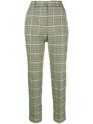 P.A.R.O.S.H. checkered print tailored trousers