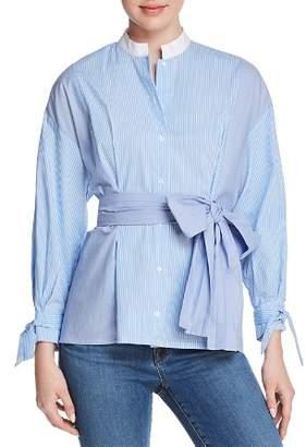 Maje Rarty Striped Self-Tie Sash Shirt - 100% Exclusive