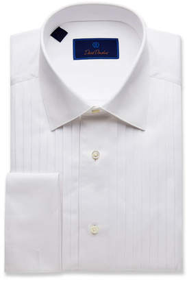 David Donahue Men's Regular-Fit Pleated-Front Formal Dress Shirt