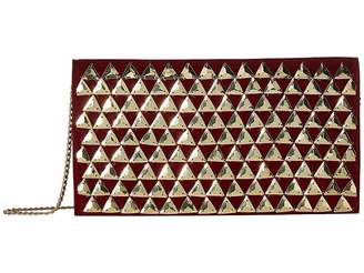San Diego Hat Company BSB3550 Gold Pyramids On Velvet Clutch with Hidden Gold Chain