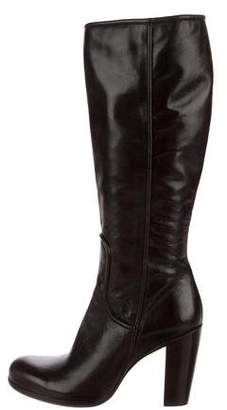 Rocco P. Leather Round-Toe Knee-High Boots