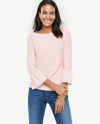 Ann Taylor Stitch Ruffle Cuff Sweater