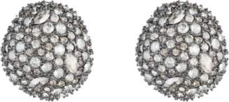 Alexis Bittar Organic Pod Shape Crystal Encrusted Button Post