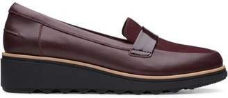 Clarks Sharon Gracie Leather Suede Loafers