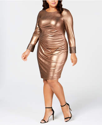 Calvin Klein Plus Size Metallic Bodycon Dress