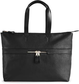 Reiss Newman Zip Leather Tote Bag
