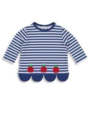 Florence Eiseman Little Girl's Ladybug Striped Top