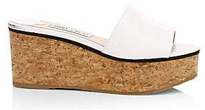 Jimmy Choo Women's Deedee Croc-Embossed Platform Sandals