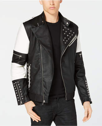 INC International Concepts I.n.c. Men's Colorblocked Studded Bomber Jacket