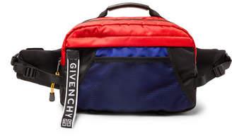 Givenchy UT3 Colour-Block Shell Belt Bag - Men - Blue