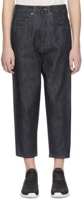 Rick Owens Indigo Collapse Cut Jeans
