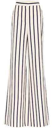 Veronica Beard Xena striped cotton trousers