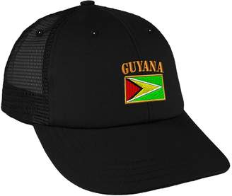 Speedy Pros Guyana Flag Embroidery Design Low Crown Mesh Golf Snapback Hat 4154d207de0b