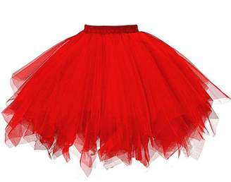 ASTV Womens Elastic Vintage Petticoat Adult Bubble Skirt Adult Tulle Tutu Skirt
