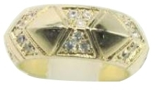 House of Harlow 1960 - Pave Thick Antique Stack Ring **Back Order**
