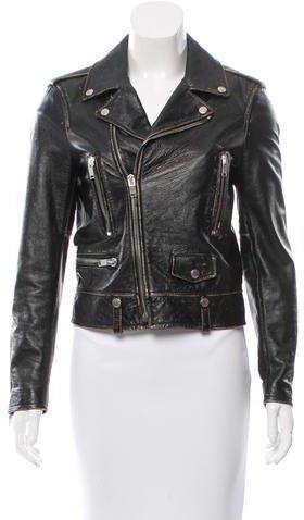 Saint LaurentSaint Laurent Distressed Leather Jacket w/ Tags