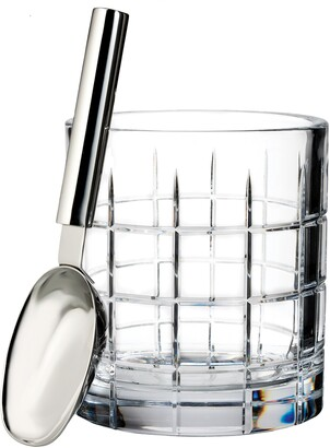 Waterford Cluin Lead Crystal Ice Bucket & Scoop