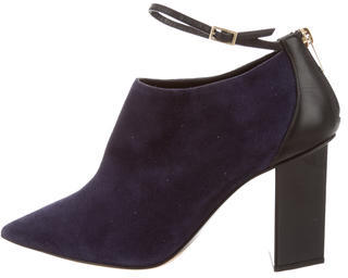 Jimmy Choo Jimmy Choo Suede Pointed-Toe Booties