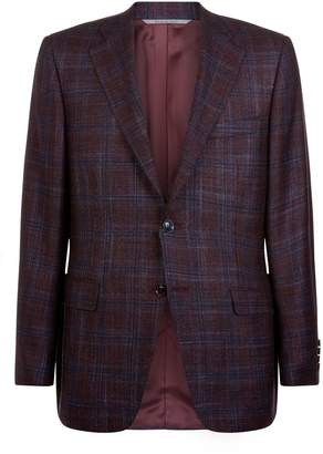 Canali Wool Check Blazer
