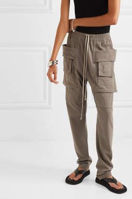Rick Owens Creatch Cotton-jersey Cargo Pants - Gray