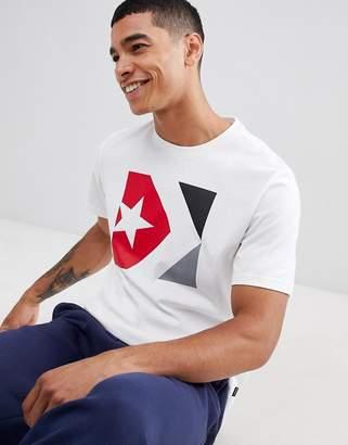 Converse Box Logo T-Shirt In White 10007272-A02