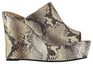 Jeffrey Campbell Womens Mansfield Wedged Snake Skin Pattern Platform Shoes