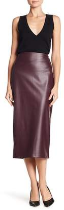14th & Union Faux Leather Pull-On Pencil Skirt