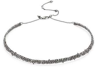 Alexis Bittar Crystal Encrusted Spike Choker Necklace
