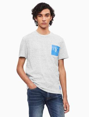 Calvin Klein monogram logo crewneck pocket t-shirt