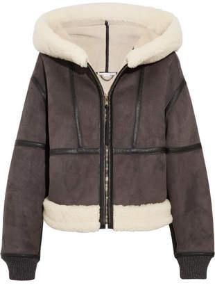 Stella McCartney - Hooded Faux Shearling Jacket - Charcoal
