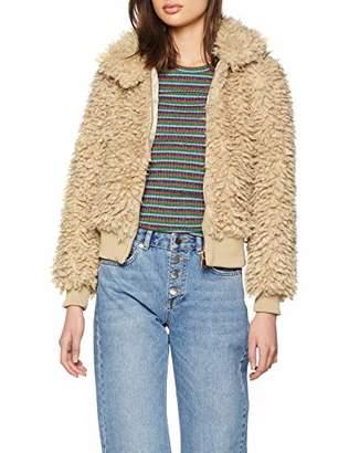 New Look Women's Curly Fur 59539 Jacket,(Size:)