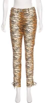 A.L.C. Mid-Rise Animal Print Pants