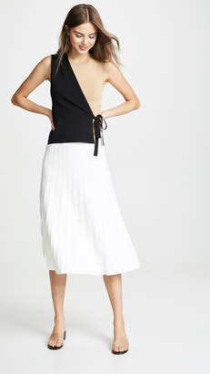 Yigal Azrouel Colorblock Wrap Dress