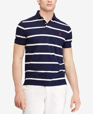 Polo Ralph Lauren Men's Striped Classic-Fit Mesh Polo Shirt