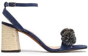 Castaner Pompom-Embellished Suede Sandals