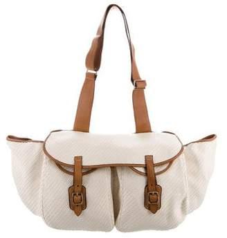 Ralph Lauren Leather-Trimmed Messenger Bag