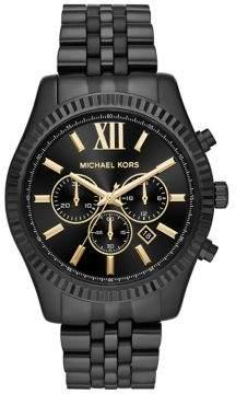 Michael Kors Lexington IP Stainless Steel Bracelet Chronograph Watch
