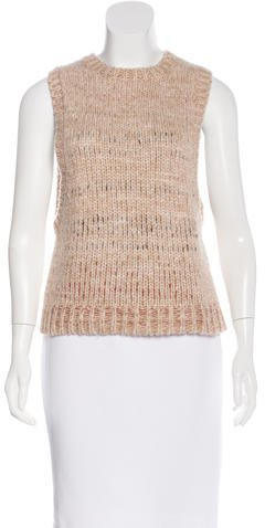 Helmut LangHelmut Lang Scoop Neck Sleeveless Sweater