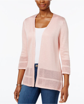 JM Collection Open-Knit Cardigan, Only at Macy's $59.50 thestylecure.com
